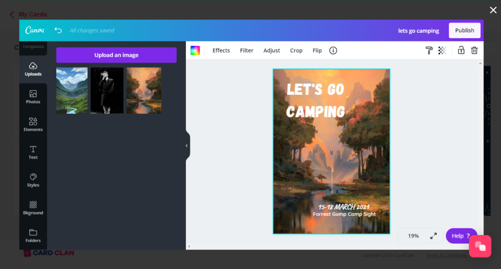 Upload Images with Canva