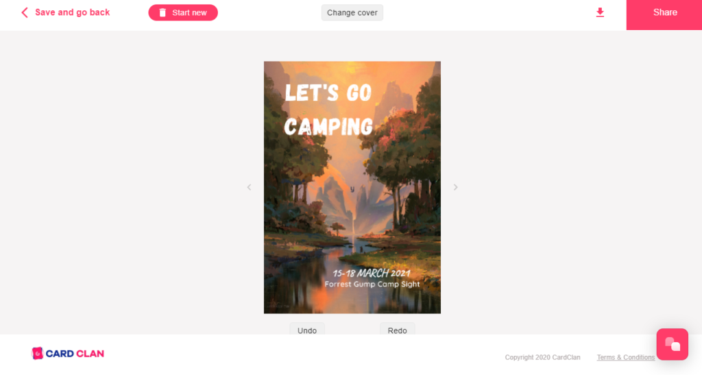 Publish card with Canva