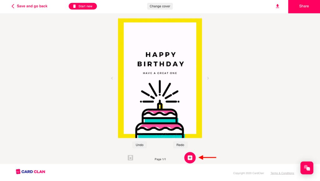 card design step 3